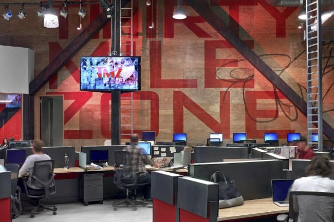 TMZ office design by Rapt Studios
