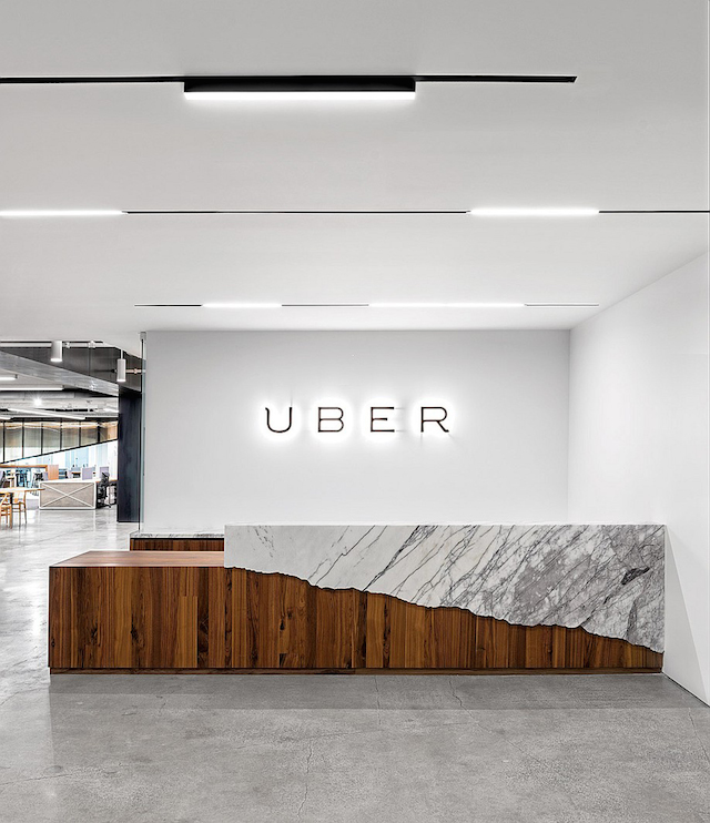 Uber office office design gallery the best offices on for Bureau reception