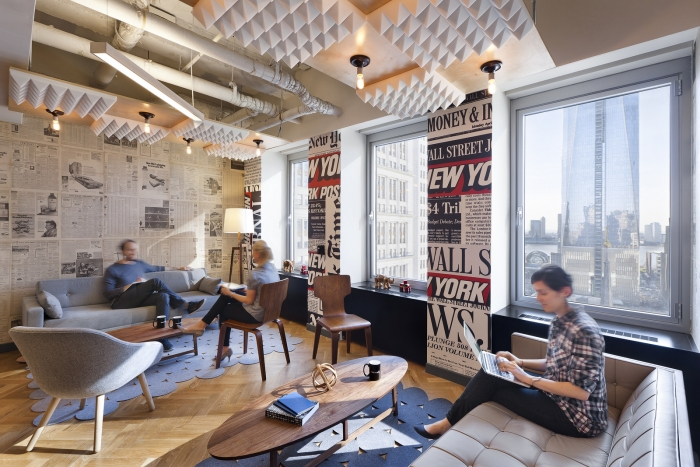 WeWork New York City Cowork Office Design