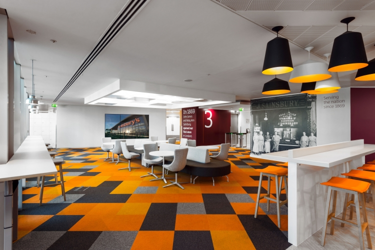 Sainsbury s central london hq office design gallery for Office design gallery